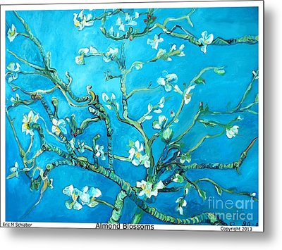 Almond Blossom Metal Print by Eric  Schiabor