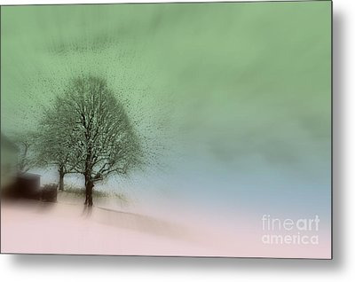 Metal Print featuring the photograph Almost A Dream - Winter In Switzerland by Susanne Van Hulst