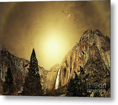Almost Heaven . Full Version Metal Print by Wingsdomain Art and Photography