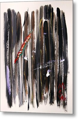 Metal Print featuring the painting Almost Vertical by Mary Carol Williams