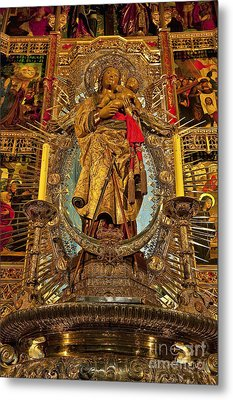 Almudena Cathedral Alter Metal Print by John Greim