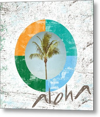 Aloha Palm Tree Metal Print