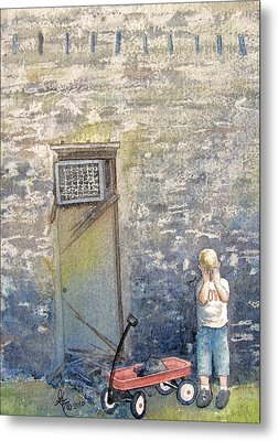 Alone Metal Print by Gale Cochran-Smith