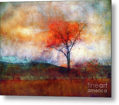 Alone In Colour Metal Print