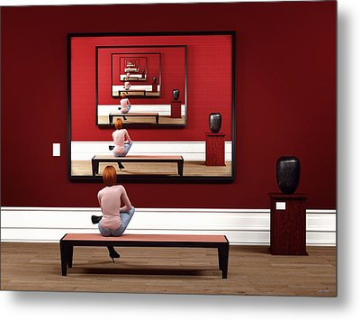 Alone In My Gallery Metal Print by Shinji K
