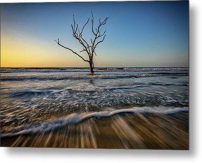 Metal Print featuring the photograph Alone In The Water by Rick Berk