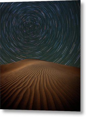 Metal Print featuring the photograph Alone On The Dunes by Darren White