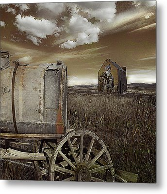 Alone On The Plains Metal Print by Jeff Burgess