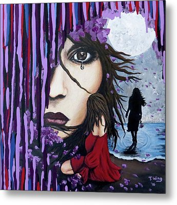 Metal Print featuring the painting Alone by Teresa Wing