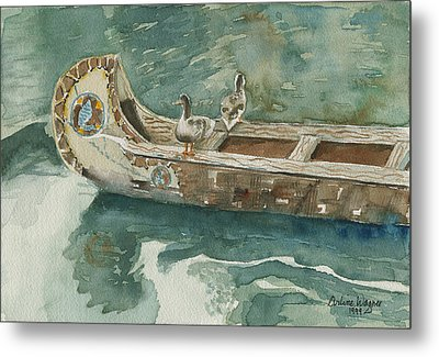 Along For The Ride Metal Print by Arline Wagner