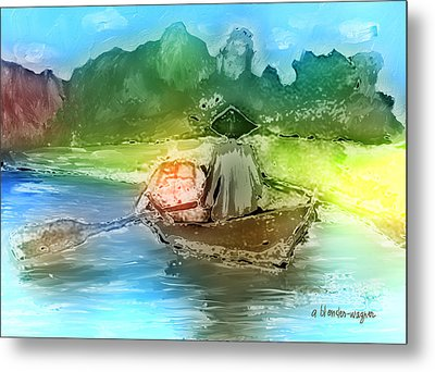 Along The Banks Of Hanoi Metal Print by Arline Wagner