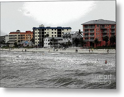 Along The Beach Metal Print by Kathleen Struckle