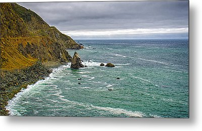 Along The Coast Highway Metal Print