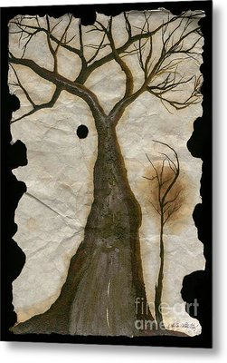 Along The Crumbling Fork In The Road Of The Tree Of Life Acfrtl Metal Print by Talisa Hartley