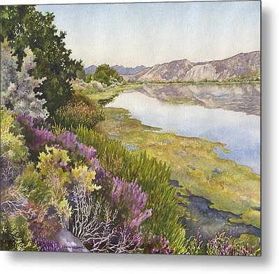 Metal Print featuring the painting Along The Oregon Trail by Anne Gifford