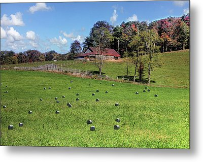 Metal Print featuring the digital art Along The Tracks by Sharon Batdorf
