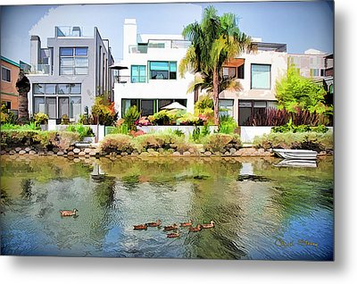 Metal Print featuring the photograph Along The Venice Canals by Chuck Staley