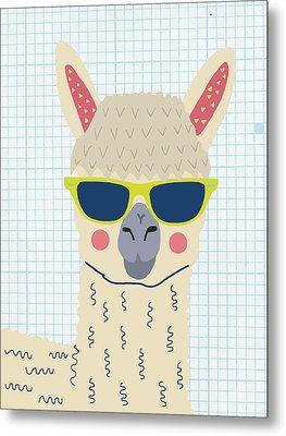 Alpaca Metal Print by Nicole Wilson