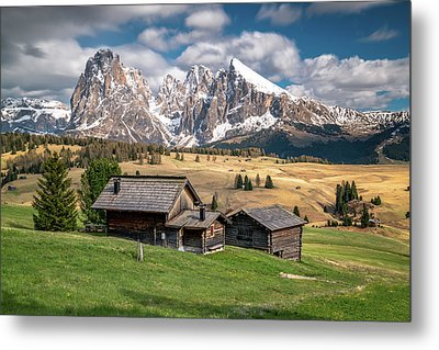 Alpe Di Suisi Cabin Metal Print by James Udall