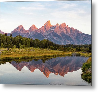 Metal Print featuring the photograph Alpen Glow by Mary Hone
