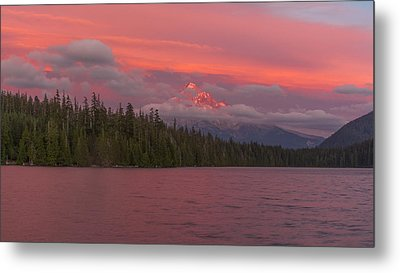 Alpenglow At Lost Lake Metal Print by Brian Governale