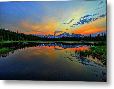 Metal Print featuring the photograph Alpine Lake Glow by Scott Mahon