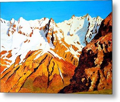 Alpine Landscape Metal Print