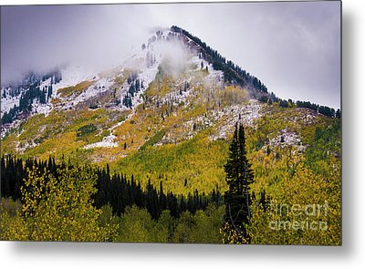 Metal Print featuring the photograph Alpine Loop Autumn Storm - Wasatch Mountains  by Gary Whitton