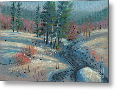 Alpine Stream Metal Print by Donald Maier