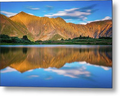 Alpine Sunglow Metal Print