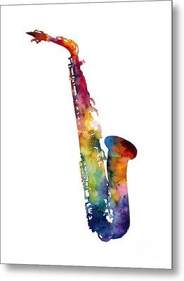 Alto Sax Metal Print by Hailey E Herrera