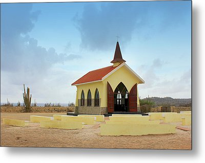Alto Vista Chapel Of Aruba Metal Print