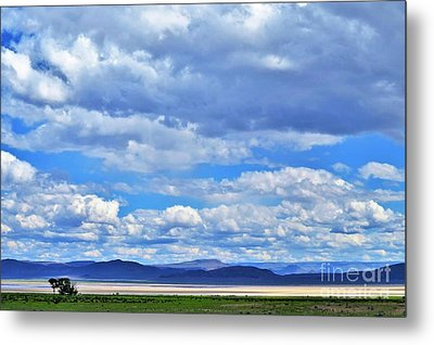 Sky Over Alvord Playa Metal Print