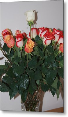 Metal Print featuring the photograph Always A Rose by Vadim Levin