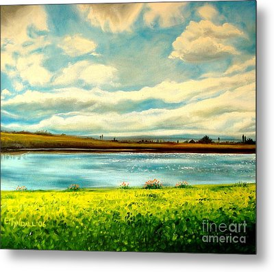 Metal Print featuring the painting Am I Dreaming by Elizabeth Robinette Tyndall