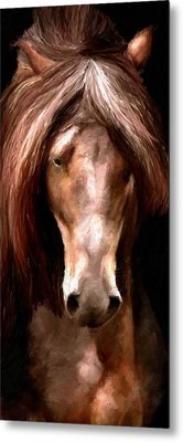 Metal Print featuring the painting Amazing Horse by James Shepherd