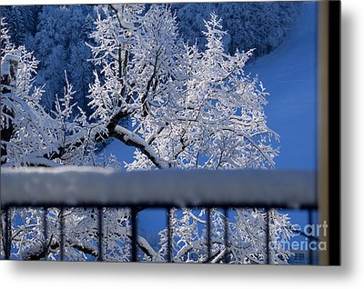 Metal Print featuring the photograph Amazing - Winterwonderland In Switzerland by Susanne Van Hulst