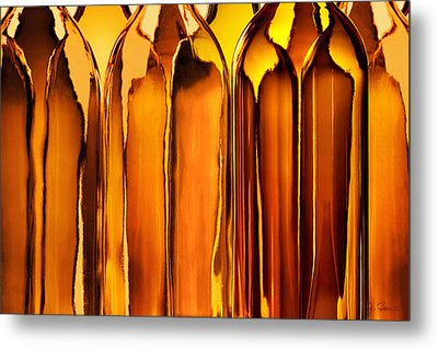 Amber Abstraction Metal Print by Joe Bonita