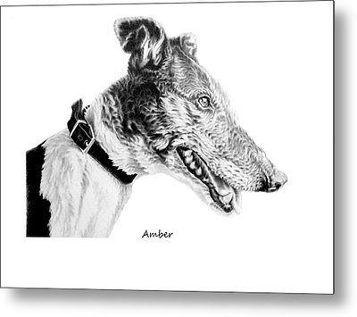 Amber Metal Print by John Searson