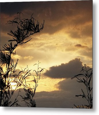 Amber Sky Metal Print by Glenn McCarthy Art and Photography