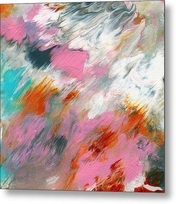 Ambrosia 2- Abstract Art By Linda Woods Metal Print