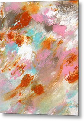Ambrosia- Abstract Art By Linda Woods Metal Print