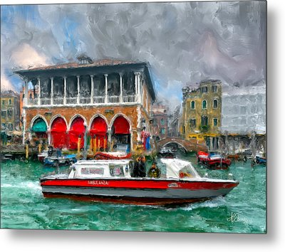 Metal Print featuring the photograph Ambulanza. Venezia by Juan Carlos Ferro Duque