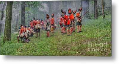 Ambush In The Forest Metal Print by Randy Steele