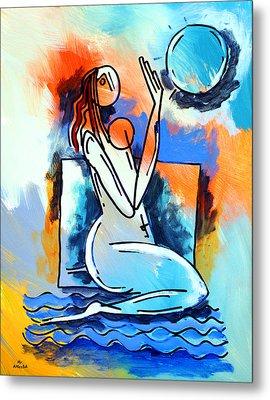 Ameeba- Nude Woman On Beach 5 Metal Print