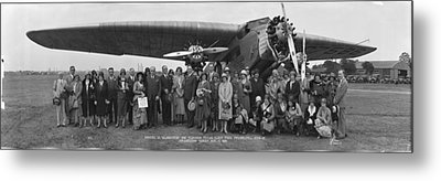 Amelia Earhart Washington Dc Airfield Metal Print by Panoramic Images