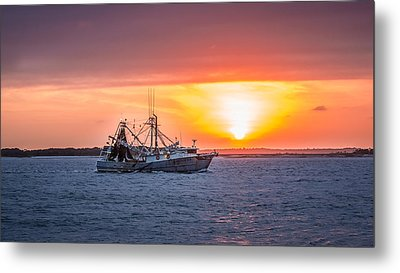 Amelia River Sunset 25 Metal Print by Rob Sellers
