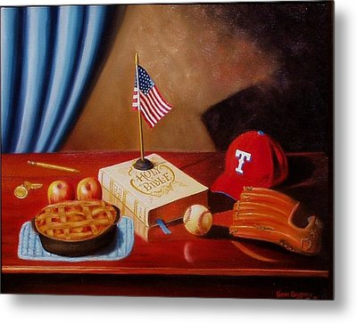 Metal Print featuring the painting America After School by Gene Gregory