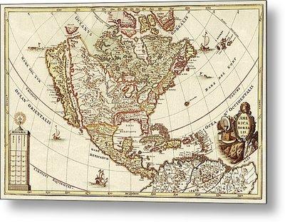 America Borealis 1699 Metal Print