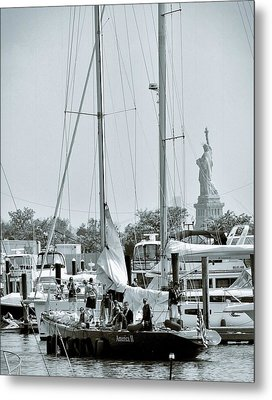 America II And The Statue Of Liberty Metal Print by Sandy Taylor